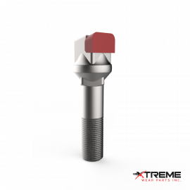 "Carbide Thumbnail Bit | Long Side  / Offset Pocket Head | c/w 5/8"" Stover Lock Nut 