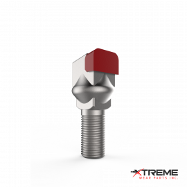 "Carbide Thumbnail Bit | Short Short / Square Set Pocket Head | c/w 5/8"" Stover Lock Nut 